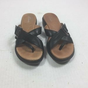 Clark Women's Shoes Size 8.5 Sandals Slide Black